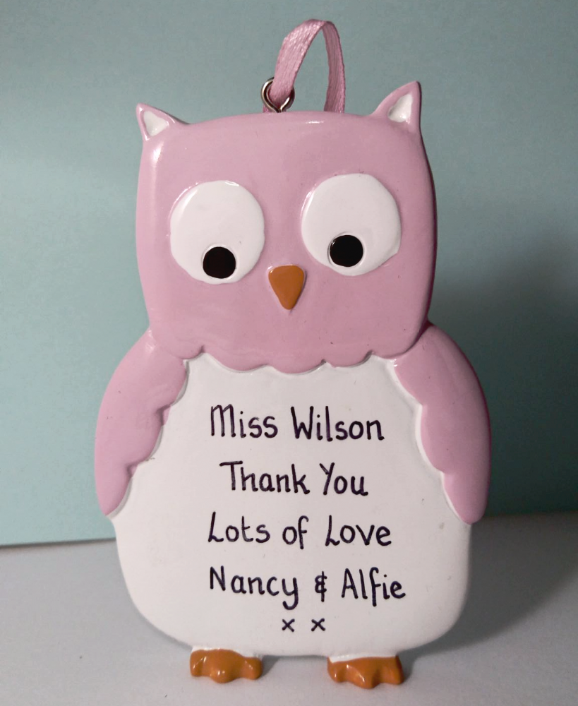 Personalised Owl Pink